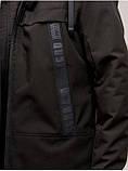 Мужская демисезонная куртка D-02  Черный, фото 4