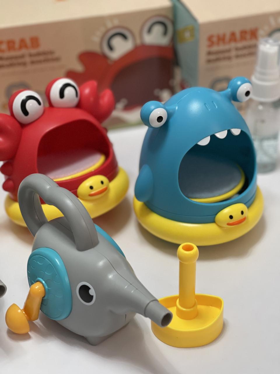 Мыльная установка с пузырями Краб и Акула