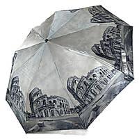 """Женский зонт, полуавтомат с изображениями городов, сатин от фирмы """"Calm Rain"""", 483-7, фото 1"""