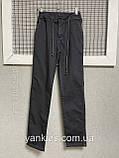 Котоновые штаны на резинке  для мальчиков   11-15 лет, фото 5