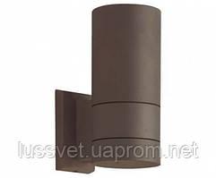 Светильник фасадный двухсторонний цилиндр Viokef Sotris кофе 1х7W