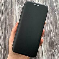 Чехол книга для Samsung Galaxy S8 с эко кожи с подставкой магнитом книжка на телефон самсунг с8 чорная STN