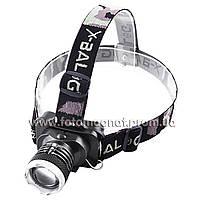 Фонарь на лоб Police(налобный фонарик) 6879-XPE, zoom