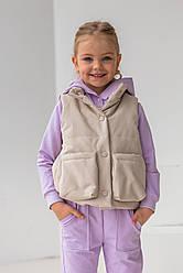 Детская жилетка демисезонная для девочки Тиена, на рост 110-122