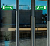 """Наклейка """"Направление к эвакуационному выходу направо"""", фото 1"""