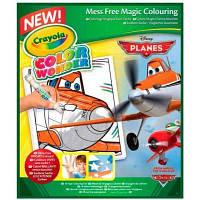 Набор для творчества Crayola Книга-раскраска с фломастерами Самолетики (75-0250)