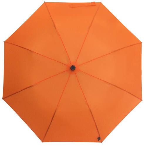 Яркий механический зонт-трость с большим куполом EuroSCHIRM teleScope Handsfree 1H16-OR/SU17614 оранжевый