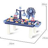 Дитячий ігровий столик для конструктора RUN RUN Block World 69шт Синій, фото 4