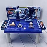Дитячий ігровий столик для конструктора RUN RUN Block World 69шт Синій, фото 6