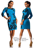 Платье флокированный дайвинг, 46-48размер