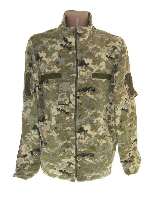 Куртка камуфляж флісова з вставками Digital ВСУ ФР-00325