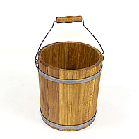 Ведро дубовое 10 л для бани и сауны