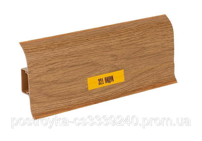 Плінтус підлоговий пластиковий Ideal (Ідеал) Комфорт 321 Падук