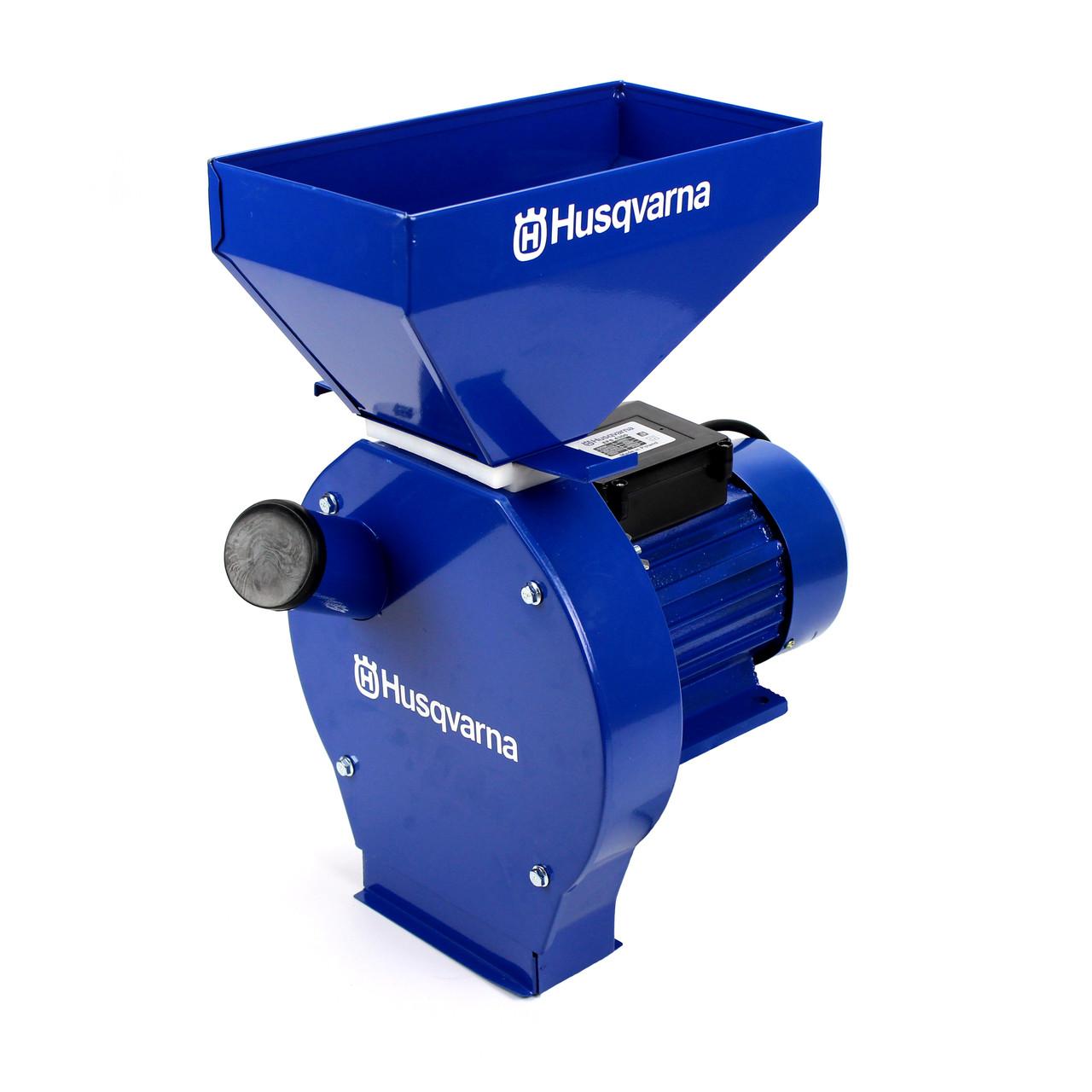 Зернодробарка Huaqvarna EFS 4300 (4.3 кВт, 320 кг/год). Кормоізмельчітель для зерна і качанів кукурудзи