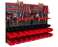Панель для инструментов перфорированная 115х78см 32 лотка / ящика