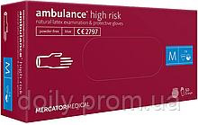 Перчатки Mercator Medical Ambulance High Risk латексные нестерильные неприпудренные 50 шт./уп.