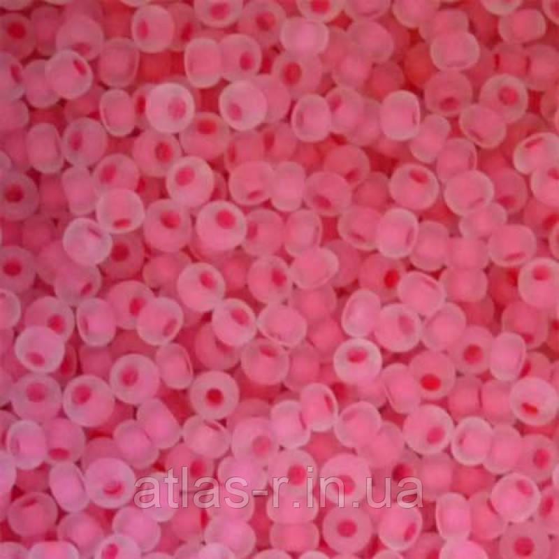 Бісер Preciosa Чехія №38398 1г, рожевий прозорий з внутрішнім забарвленням
