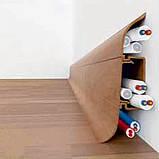 Плинтус напольный пластиковый Ideal (Идеал) Комфорт 351 Каштан, фото 3