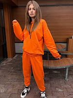 Женский спортивный костюм трикотажный .VIDLIK оранжевый