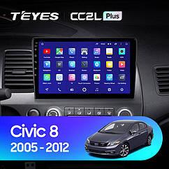 Штатная магнитола TEYES  Honda Civic 8 2005 - 2012 Android