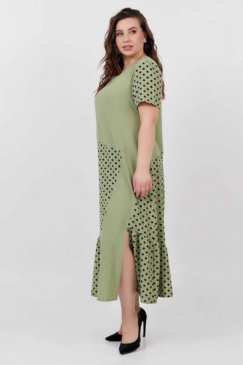 Платье ТМ ALL POSA оливка 50 (100512)