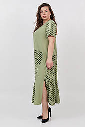 Платье ТМ ALL POSA оливка 50 (100512) 52