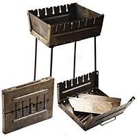 Мангал чемодан раскладной STENSON на 6 шампуров стальной (2 мм) складной