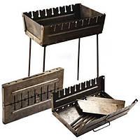 Мангал чемодан раскладной STENSON на 8 шампуров стальной (2 мм) складной