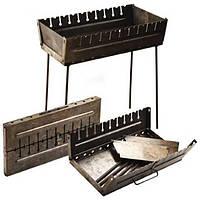 Мангал чемодан раскладной STENSON на 10 шампуров стальной (2 мм) складной