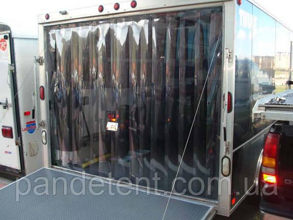 Ленточная теплоизолирующая ПВХ силиконовая штора. Энергосберегающая ПВХ завеса с карнизом., фото 2
