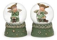 """Снежный новогодний шар """"Девочка с крыльями"""" (полирезина), 5 см, 5x5x6.5см"""