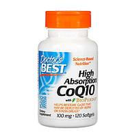 Коензим Q10 Високою Абсорбації 100 мг BioPerine Doctor's s Best 120 желатинових капсул