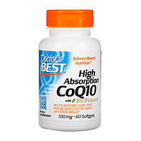 Коензим Q10 Високою Абсорбації 100 мг BioPerine Doctor's s Best 60 желатинових капсул