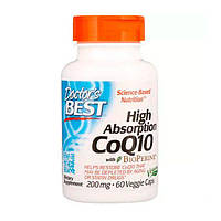 Коензим Q10 Високою Абсорбації 200 мг BioPerine Doctor's s Best 60 гельових капсул