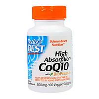 Коензим Q10 Високою Абсорбації 200 мг BioPerine Doctor's s Best 60 желатинових капсул