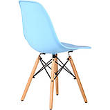 Стул Aster PL Wood голубой пластик AMF (бесплатная адресная доставка), фото 3