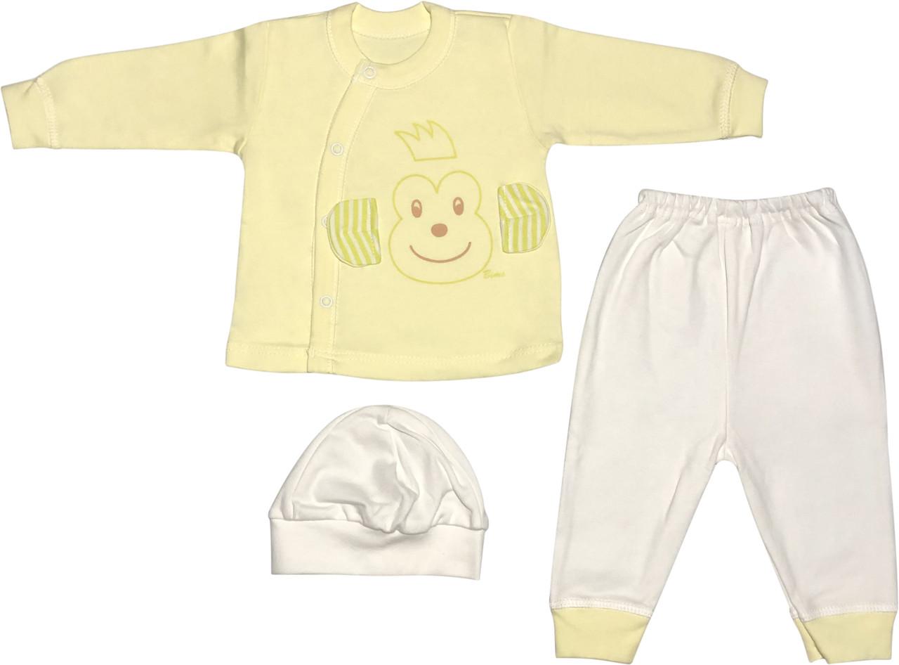 Костюм для новонароджених малюків ріст 56 0-2 міс на хлопчика дівчинку комплект дитячий трикотажний жовтий