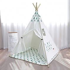 Дитячий ігровий намет Littledove RT-1640 Ялинки вігвам будиночок для дітей
