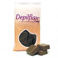 Горячий воск для депиляции DepilFlax 1 кг шоколад
