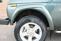 пластиковые накладки на колесные арки на ниву такси, мототакси