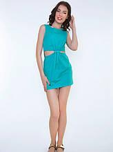 М'ятна міні сукня з Котону з вирізами з боків L