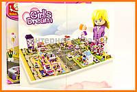 Конструктор Sluban Розовая мечта , салон красоты с 3 минифигурками, 243 дет., арт. M38-B0526