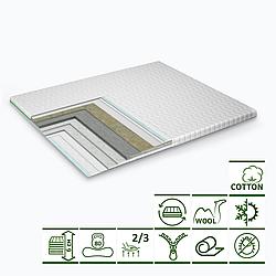 Тонкий матрац-топпер GS Cotton Extra 70х190 см
