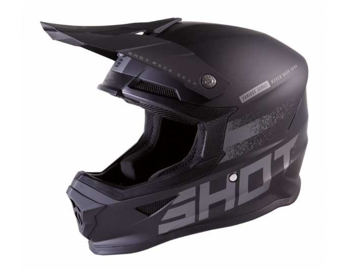 Мотошлем Shot Racing Furious Raw 2.0 Black/Grey