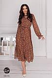 Женское платье миди с цветочным принтом, фото 2