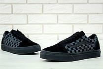 Чоловічі кеди Vans Old Skool Checkerboard Grey/Black, фото 2