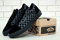 Чоловічі кеди Vans Old Skool Checkerboard Grey/Black, фото 3