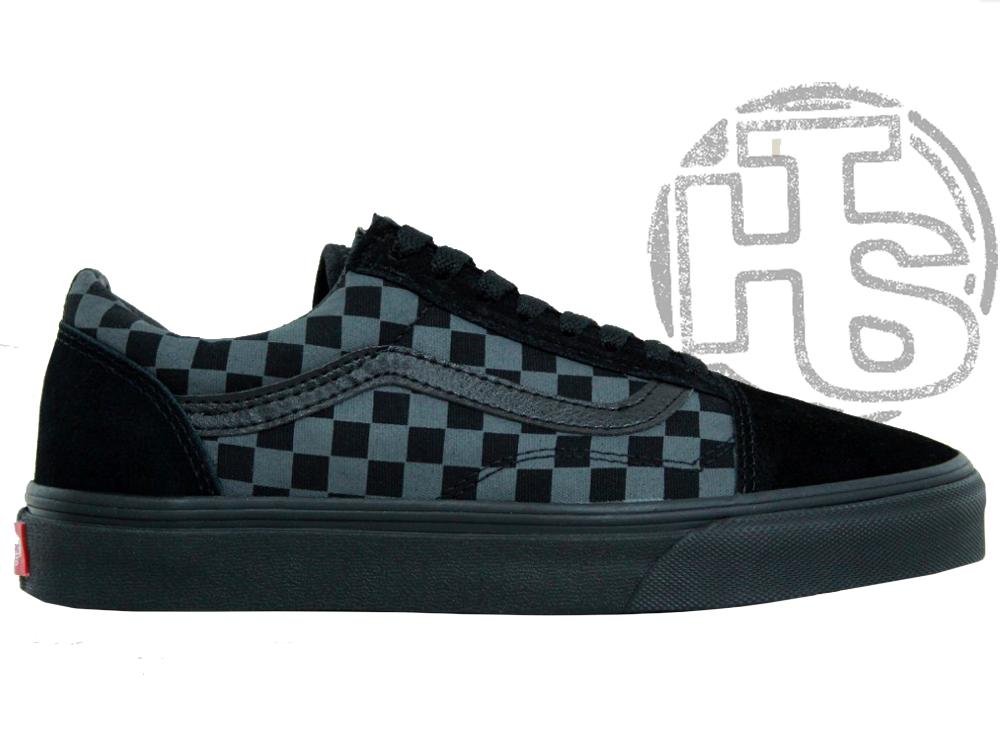 Чоловічі кеди Vans Old Skool Checkerboard Grey/Black