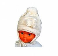 """Комплект """"Ника"""" (шапка+шарф) двойная вязка для девочки (5-7) - 332 -51 см"""