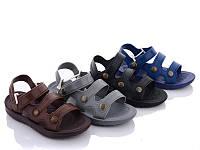 Сандали (босоножки) пена для мальчика детские серые, синие размеры 32,33,35